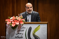 IRIB Managing Director Abdol-Ali Ali-Asgari speaks during the inauguration ceremony of the Iran Kala TV channel at the IRIB International Conference Center in Tehran on March 3, 2018. (Mehr/Behnam Tof