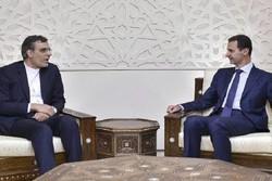 Iran's Jaberi Ansari meets Syrian president