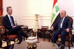 دیدار نخست وزیر عراق با دبیرکل ناتو در بغداد