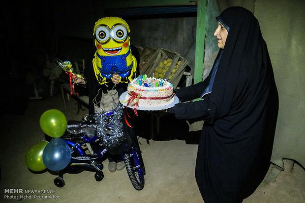 جشن تولد فرزند شهید مدافع حرم «ناصر مسلمی سواری»