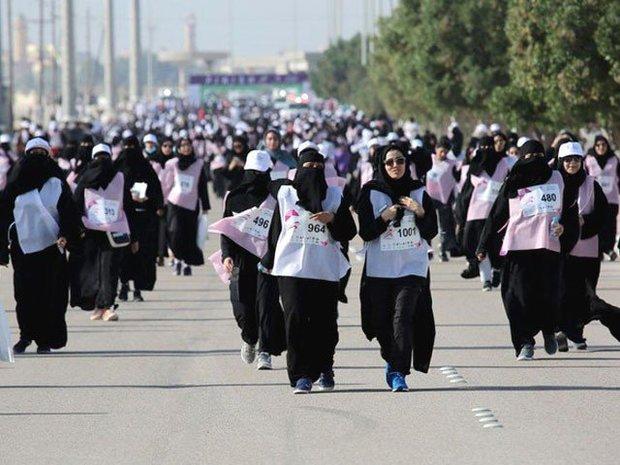 سعودی عرب میں پہلی بارخواتین کی میراتھن دوڑ کے مقابلے کا اہتمام