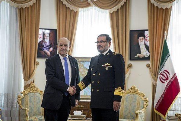 «لودریان» با دبیر شورای عالی امنیت ملی دیدار و گفتگو کرد