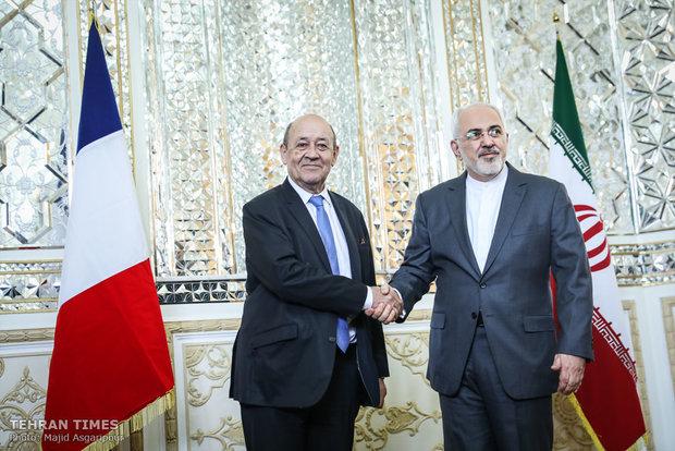 Iran's Zarif meets French counterpart in Tehran
