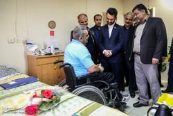 بازدید محمدجواد آذری جهرمی وزیر ارتباطات و فناوری اطلاعات از آسایشگاه جانبازان شهید بهشتی