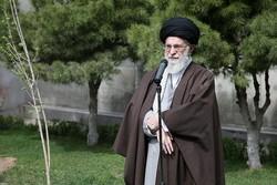 قائد الثورة الاسلامية يؤكد على أهمية توسيع الغطاء الأخضر لمكافحة العواصف الترابية
