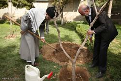 قائد الثورة الاسلامية يغرس شتلة في أسبوع المصادر الطبيعية /صور