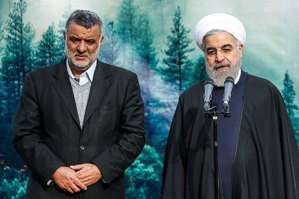 Rouhani opens 1200-hectare greenbelt plan around Tehran