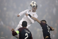 دیدار تیم های فوتبال پاریسن ژرمن و رئال مادرید