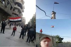 تظاهرات شهروندان سوری در غوطه شرقی در دفاع از ارتش سوریه