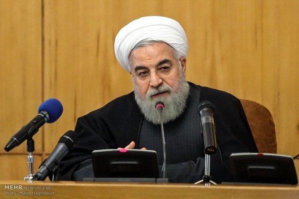 روحاني : العدوان جاء نتيجة فشل وكلاء أمريكا من الإرهابيين في سوريا