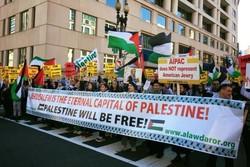 تظاهرات ضد صهیونیستی در واشنگتن دی سی