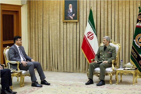 امیر سرتیپ حاتمی و معاون وزیر دفاع افغانستان