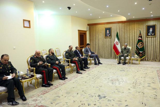 دیدار معاون سیاسی وزارت دفاع ملی افغانستان با امیر سرتیپ حاتمی وزیر دفاع ایران