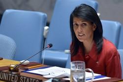 نیکی هیلی: نظامیان روسیه و سوریه مانند تروریستها عمل می کنند!