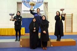 قهرمانی دانشگاه آزاد در لیگ برتر ووشو بانوان