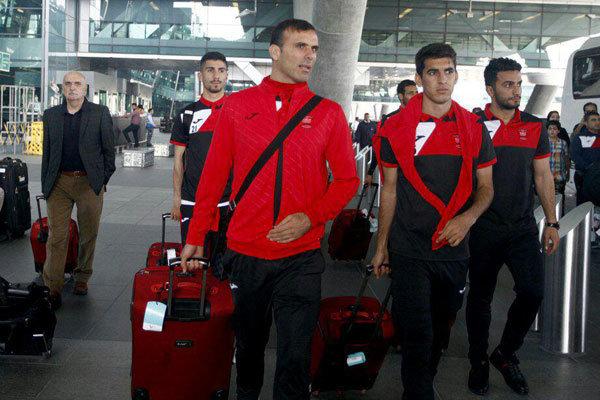 کاروان تیم فوتبال پرسپولیس به امارت رفت