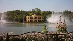 A view of the historical Elgoli Park in Tabriz