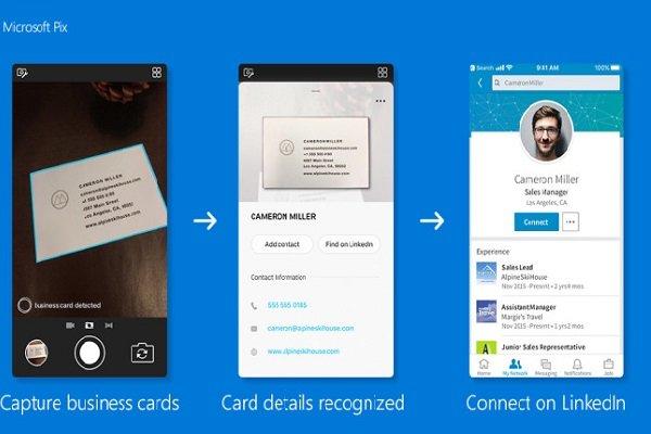 اطلاعات کارت ویزیت به فهرست تماس گوشی اضافه می شود