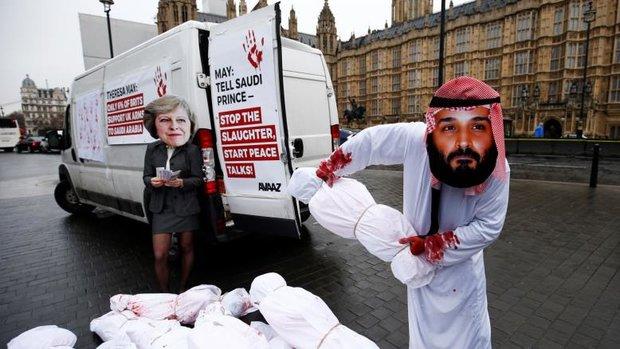 بريطانيا تشهد احتجاجات حادة ضد ولي العهد السعودي
