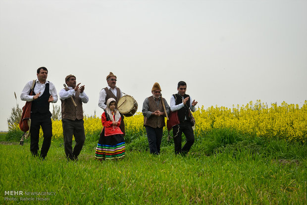 Folklore rituals of Nowruz Eve in Iran's Gilan province