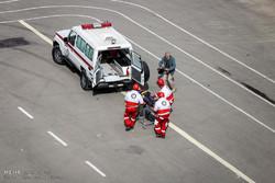 امدادرسانی هلالاحمر سمنان به حادثه واژگونی پراید/۳نفر جان باختند