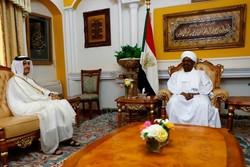 قطر کے وزیر خارجہ کی سوڈان کے صدر سے ملاقات