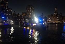 سقوط طائرة مروحية في نهر نيويورك ومقتل شخصين