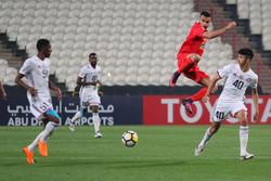 دیدار تیم فوتبال تراکتورسازی و الجزیره امارات