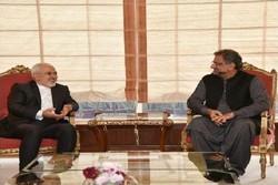 Zarif, Pakistani PM agree to follow up peace pipeline