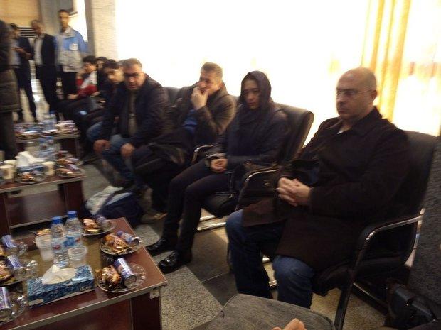 حضور خانواده قربانیان هواپیمای ترکیه ای در شهرکرد