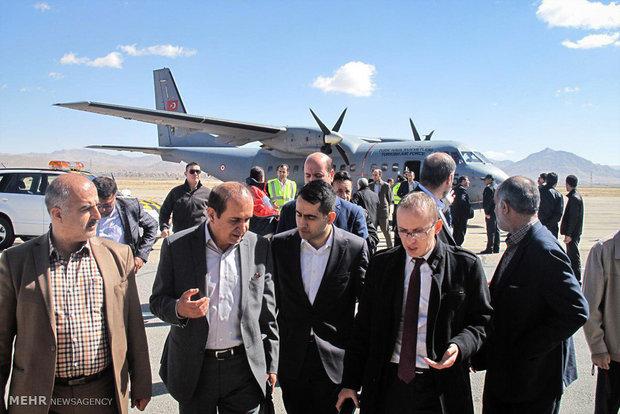 İran'da düşen Türk uçağından kareler