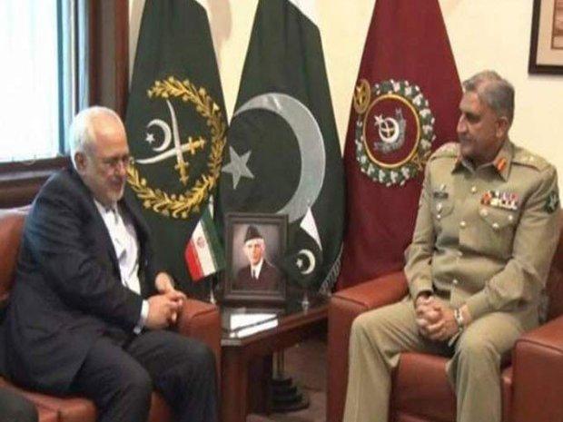 ایرانی وزیر خارجہ کی جنرل باجوہ سے ملاقات