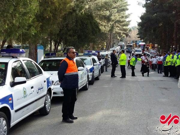 مانور ستاد خدمات سفر در کرمانشاه برگزار شد+عکس