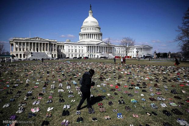 گرامیداشت کودکان قربانی تیراندازی های مرگبار آمریکا