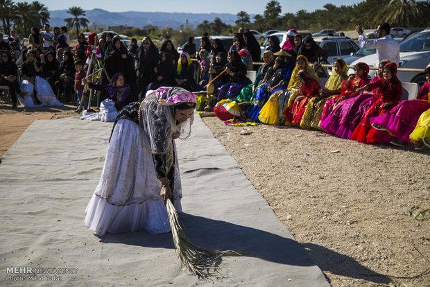 Kaşkai Türklerinin geleneksel düğün töreninden görüntüler
