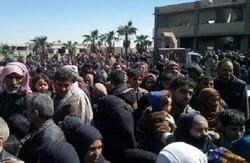 خروج بیش از ۱۷ هزار نفر از غوطه شرقی از زمان آغاز آتش بس