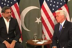 دیدار «مایک پنس» و نخست وزیر پاکستان