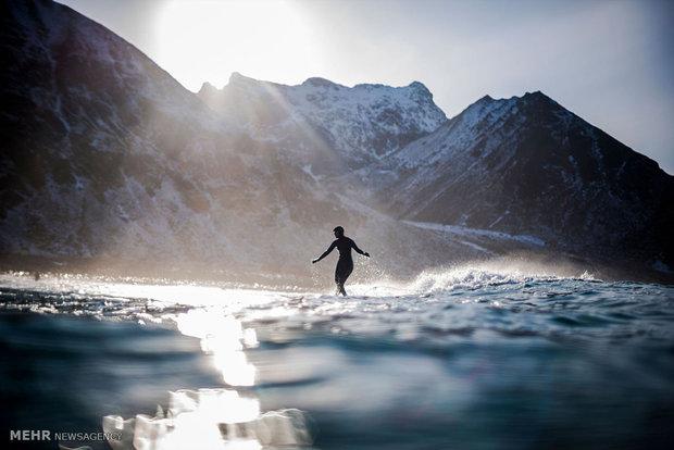 موج سواری در دمای زیر صفر نروژ