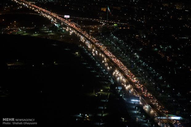 ترافیک نیمه سنگین در هراز/تردد در محور فیروزکوه عادی و روان است
