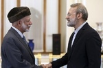 Parliament speaker meets with Omani FM in Tehran