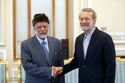دیدار یوسف بن علوی وزیر امور خارجه عمان با علی لاریجانی رئیس مجلس شورای اسلامی