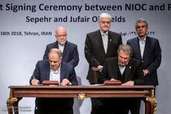 إبرام عقد لتطوير حقلين نفطيين جنوب غرب ايران /صور