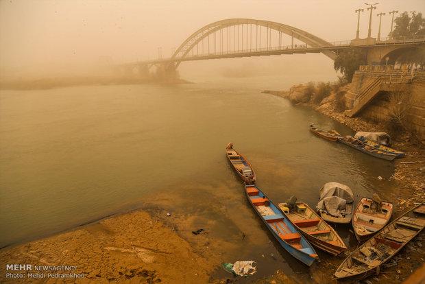 منبع عمده گردوخاک های خوزستان در دهه ۹۰ داخلی بوده است