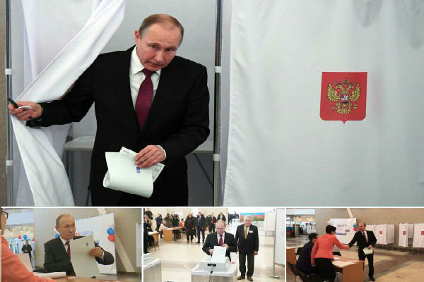 فلم/ پوتین نے صدارتی انتخابات میں اپنا ووٹ ڈال دیا