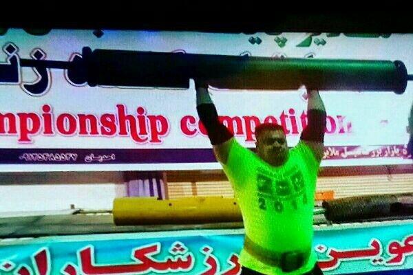 ورزشکار کرمانشاهی موفق به کسب مدال طلای کندهزنی کشور شد