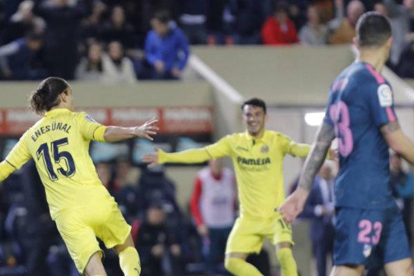 ۱۰ دقیقه جهنمی برای اتلتیکو مادرید/ ویارئال بازی باخته را برد