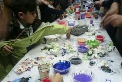 دورهمی رنگ آمیزی تخم مرغها در گرگان برگزار شد/ ترکیب شادی و رنگ