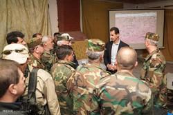 Esad'ın sürpriz ziyaretinden fotoğraflar
