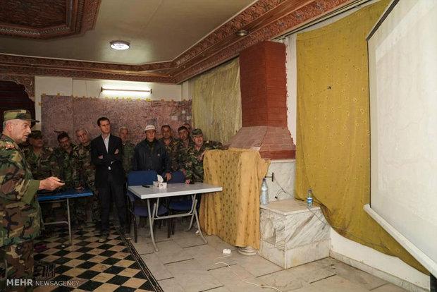 حضور بشار اسد در پشت خط مقدم غوطه شرقی