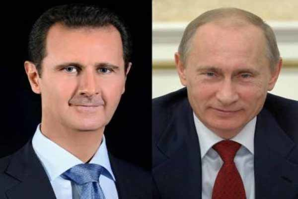 بوتين يهنئ الأسد بإعادة انتخابه رئيسا لسوريا